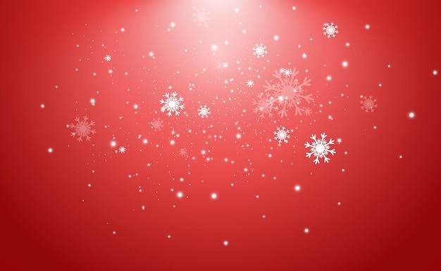Ilustração em vetor de neve voando em um fundo transparente; fenômeno natural da queda de neve
