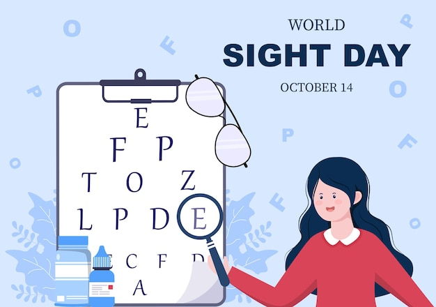 Ilustração em vetor de olhos para o dia mundial da visão