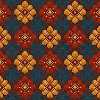 Ilustração em vetor de ornamento popular padrão sem emenda. ornamento étnico