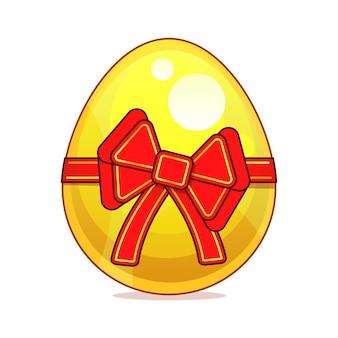 Ilustração em vetor de ovo dourado selphie cartoon sinal para impressão, em quadrinhos, moda, pop art
