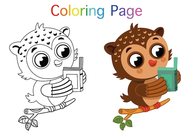 Ilustração em vetor de página para colorir para crianças