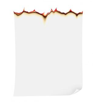 Ilustração em vetor de papel ardente