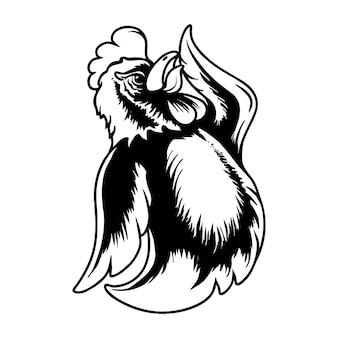 Ilustração em vetor de personagem de galo