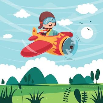 Ilustração em vetor de plano de operação de criança