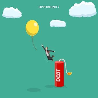 Ilustração em vetor de plano isométrico de oportunidade.