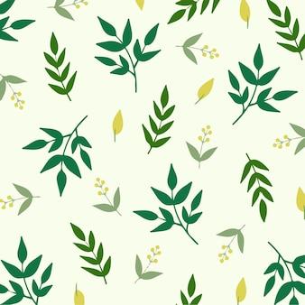 Ilustração em vetor de planta tropical de fundo de padrão floral