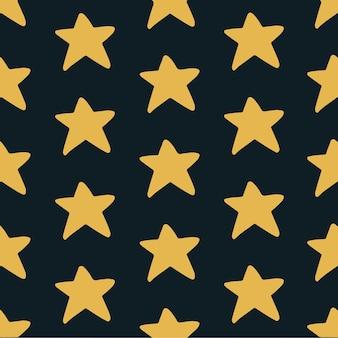 Ilustração em vetor de postagem de mídia social de fundo de padrão de estrela