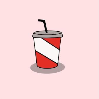 Ilustração em vetor de postagem de símbolo de café nas mídias sociais