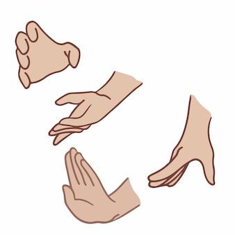 Ilustração em vetor de postagem de símbolo de gesto de mão nas mídias sociais