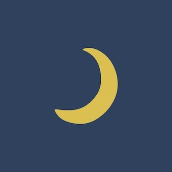 Ilustração em vetor de postagem de símbolo de lua crescente nas mídias sociais