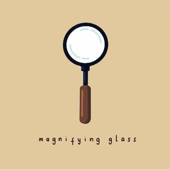 Ilustração em vetor de postagem de símbolo de vidro de aumento nas mídias sociais