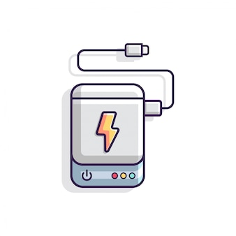 Ilustração em vetor de powerbank