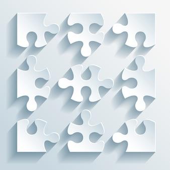 Ilustração em vetor de quebra-cabeças de papel