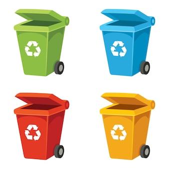 Ilustração em vetor de reciclagem