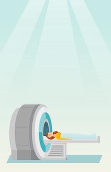 Ilustração em vetor de ressonância magnética.