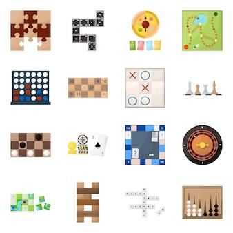 Ilustração em vetor de símbolo de jogo e conceito. conjunto de jogo e jackpot
