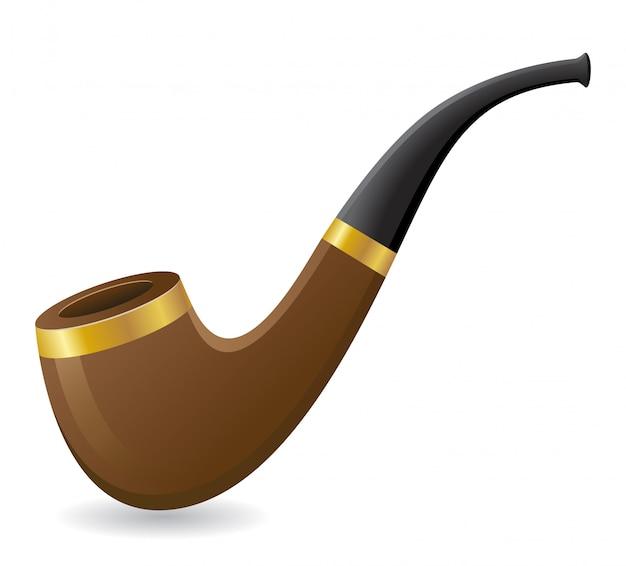 Ilustração em vetor de tubo de tabaco