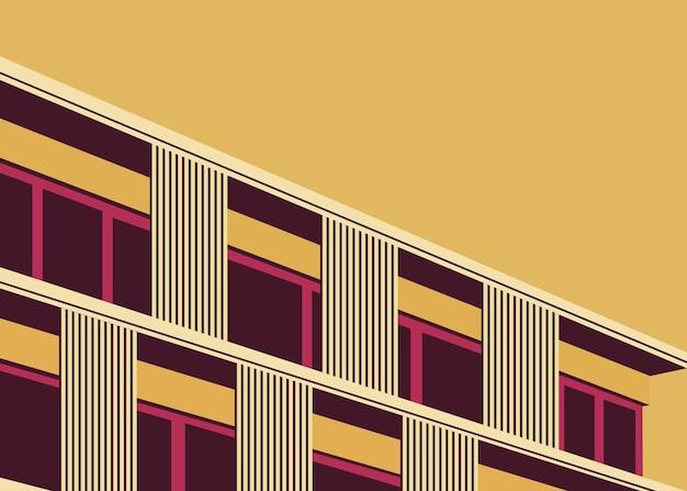 Ilustração em vetor de um apartamento em um edifício