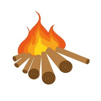 Ilustração em vetor de um estilo de fogo plano. ícone para a internet. isolado em um fundo branco.