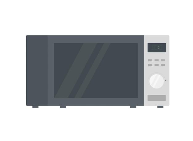 Ilustração em vetor de um forno de microondas. estilo realista.