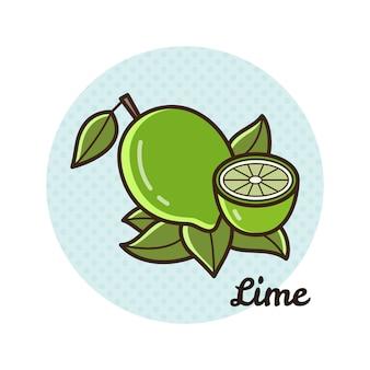 Ilustração em vetor de um limão.
