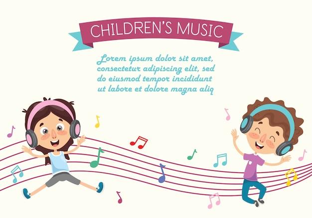 Ilustração em vetor de uma dança de crianças