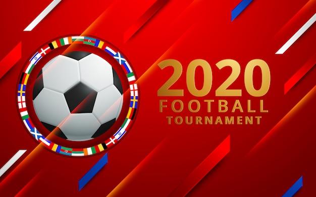 Ilustração em vetor de uma xícara de futebol 2020