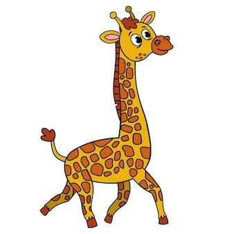Ilustração em vetor desenho animado de uma girafa