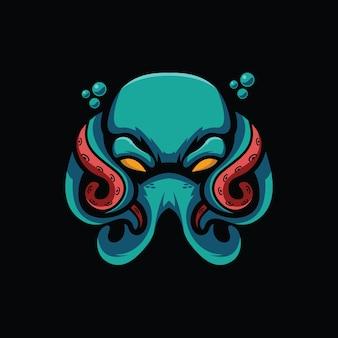 Ilustração em vetor design assustador de polvo