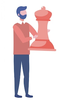Ilustração em vetor design avatar empresário dos desenhos animados