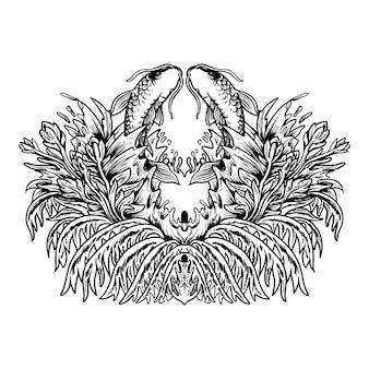 Ilustração em vetor design de camisetas vibrações de verão