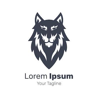 Ilustração em vetor design de logotipo de cachorro husky