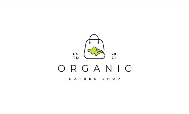 Ilustração em vetor design de logotipo de loja de saladas
