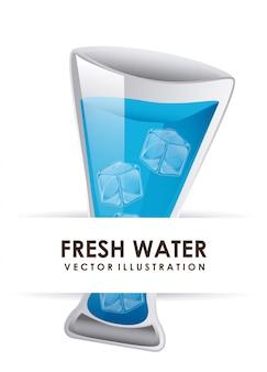 Ilustração em vetor design gráfico água
