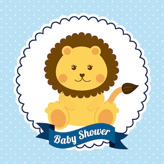 Ilustração em vetor design gráfico bebê chuveiro