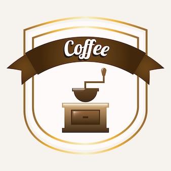 Ilustração em vetor design gráfico café