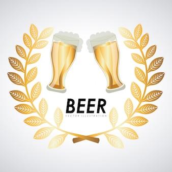 Ilustração em vetor design gráfico cerveja