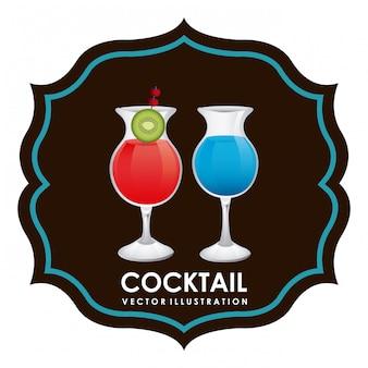 Ilustração em vetor design gráfico cocktail