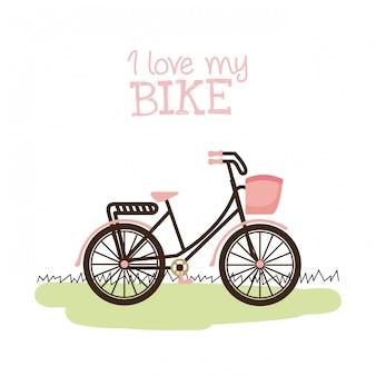 Ilustração em vetor design gráfico de bicicleta