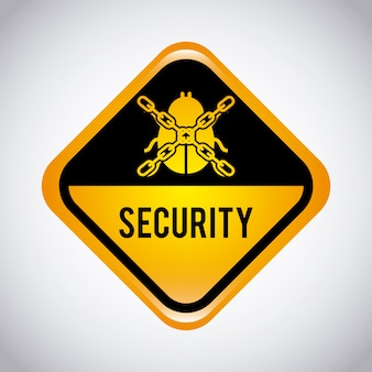 Ilustração em vetor design gráfico de segurança