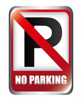 Ilustração em vetor design gráfico estacionamento