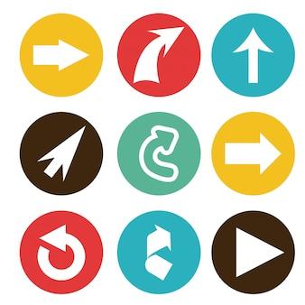 Ilustração em vetor design gráfico seta