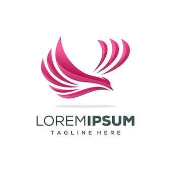 Ilustração em vetor design logotipo águia