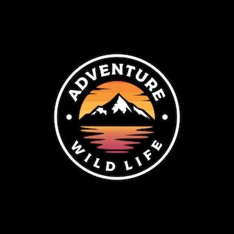 Ilustração em vetor design logotipo aventura