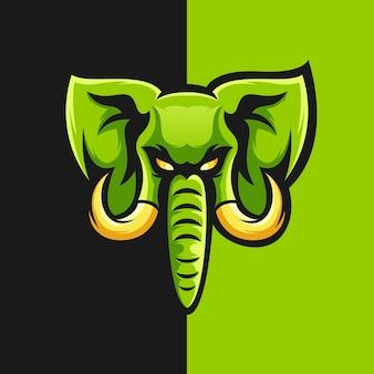 Ilustração em vetor design logotipo elefante
