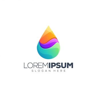 Ilustração em vetor design logotipo líquido