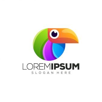Ilustração em vetor design logotipo pássaro