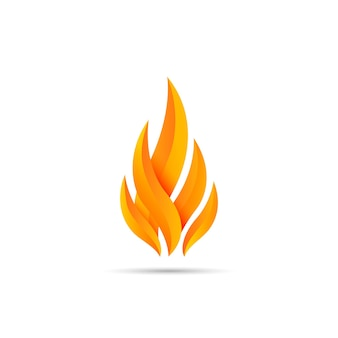 Ilustração em vetor design moderno fogo emblema