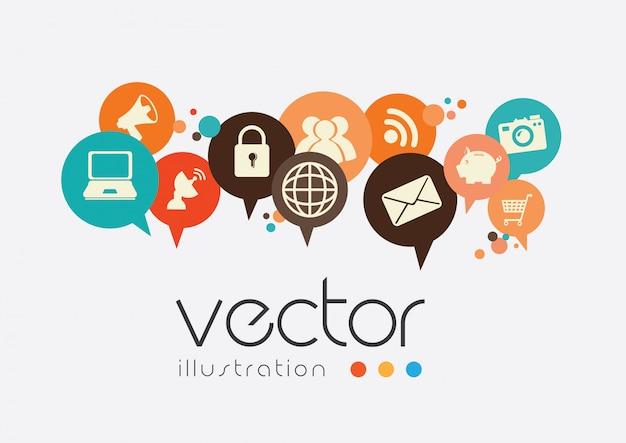 Ilustração em vetor design tecnologia