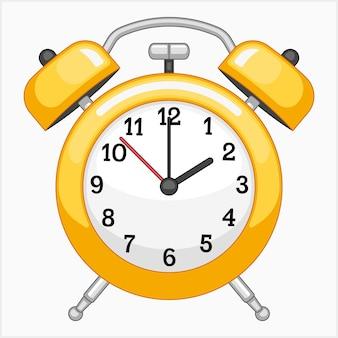 Ilustração em vetor despertador amarelo